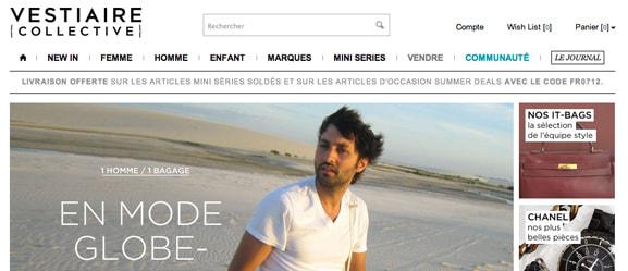 Site web de Vestiaire collective